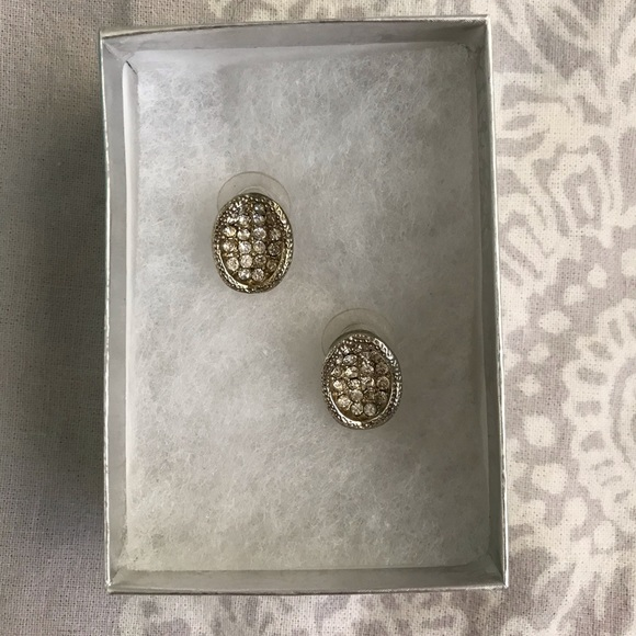 Francesca's Collections Jewelry - Bejeweled concave earrings